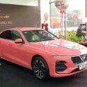 vinfast lux a màu hồng
