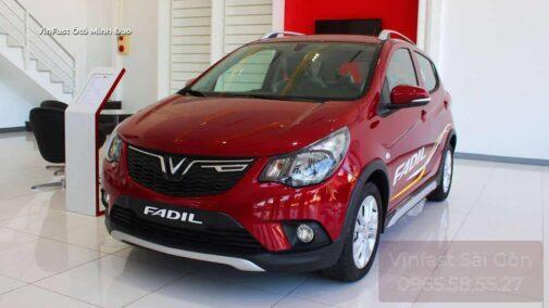 xe vinfast fadil bản tiêu chuẩn màu đỏ mystique red