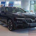 xe vinfast lux a bản tiêu chuẩn màu đen jet black