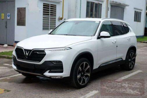 xe vinfast lux sa bản nâng cao màu trắng brahminy white