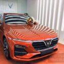 xe vinfast luxa bản tiêu chuẩn màu cam action orange