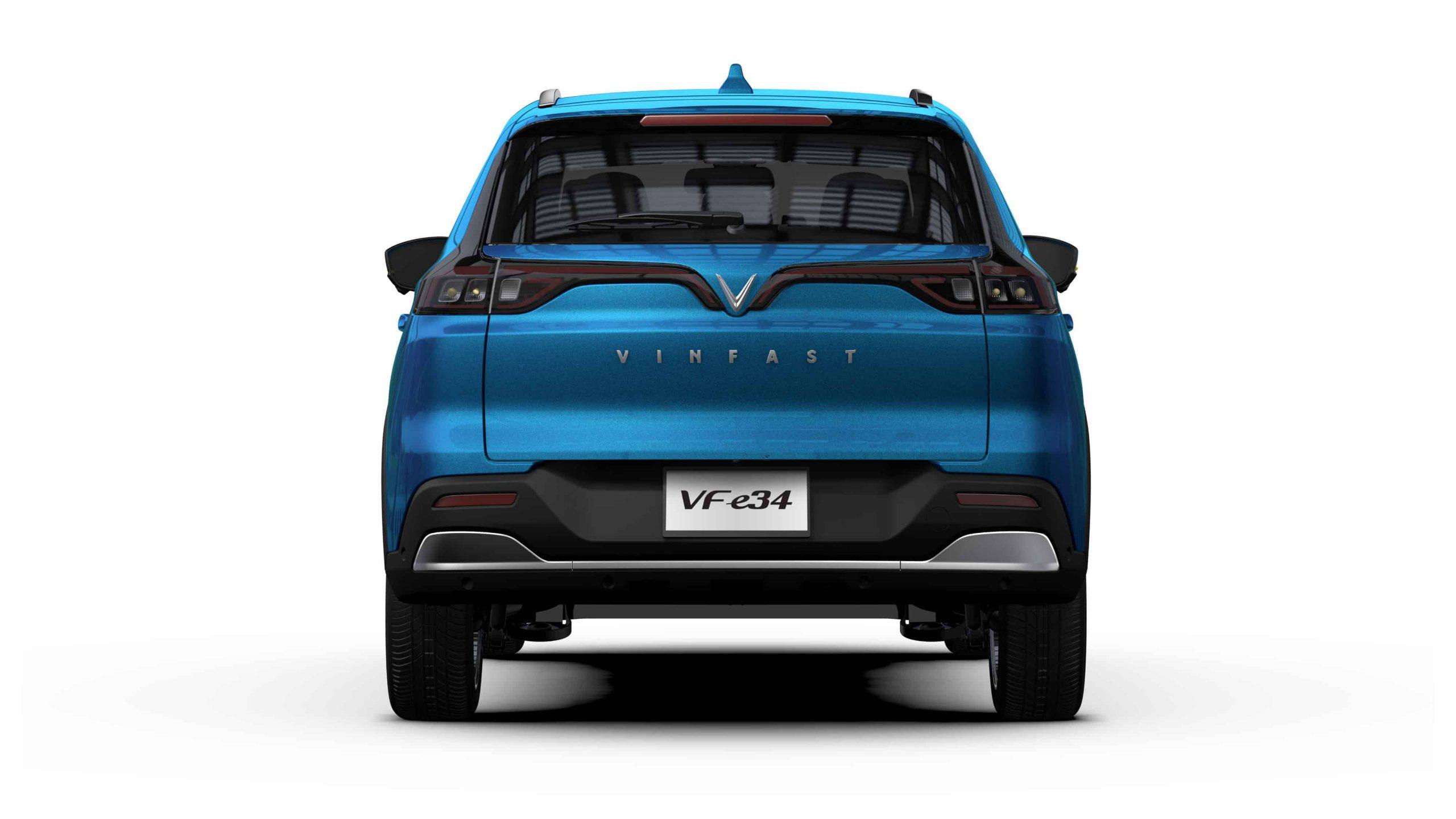 hình ảnh mô phỏng phần sau xe điện vinfast vf e34