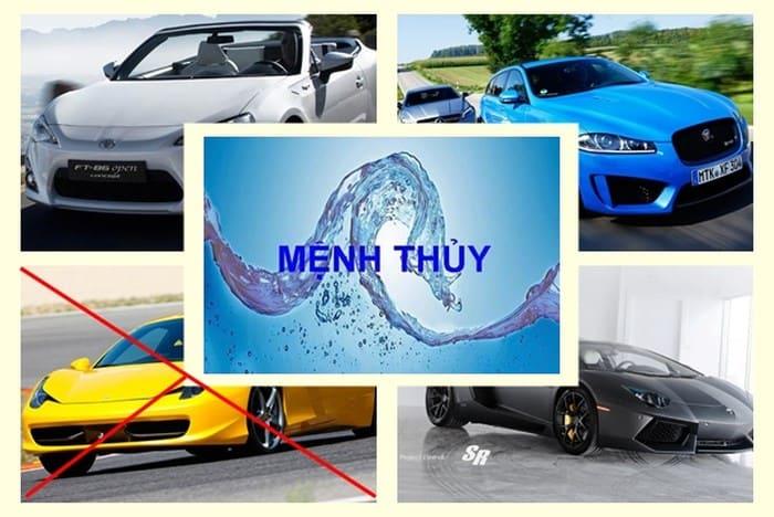 Người mệnh Thủy hợp xe có màu trắng, ghi, xám, xanh nước biển đen