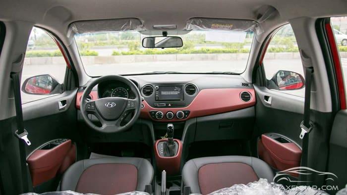 Hyundai Grand i10 có khoang cabin rộng rãi, thoải mái