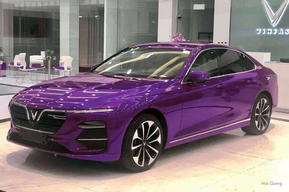 xe vinfast lux a 20 mau tim purple