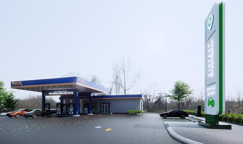 Các trạm xăng dầu sẽ được lắp khoảng 10 trụ sạc công suất 60Kw