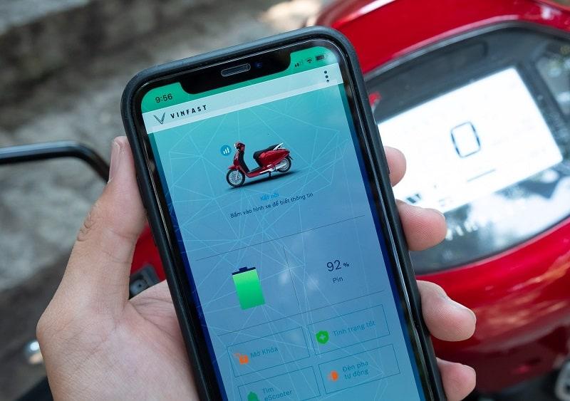 Ứng dụng E-Scooter sở hữu giao diện rõ ràng, trực quan và rất dễ sử dụng (Nguồn: vinfastauto.com)