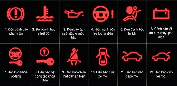 Den canh bao o to mau do