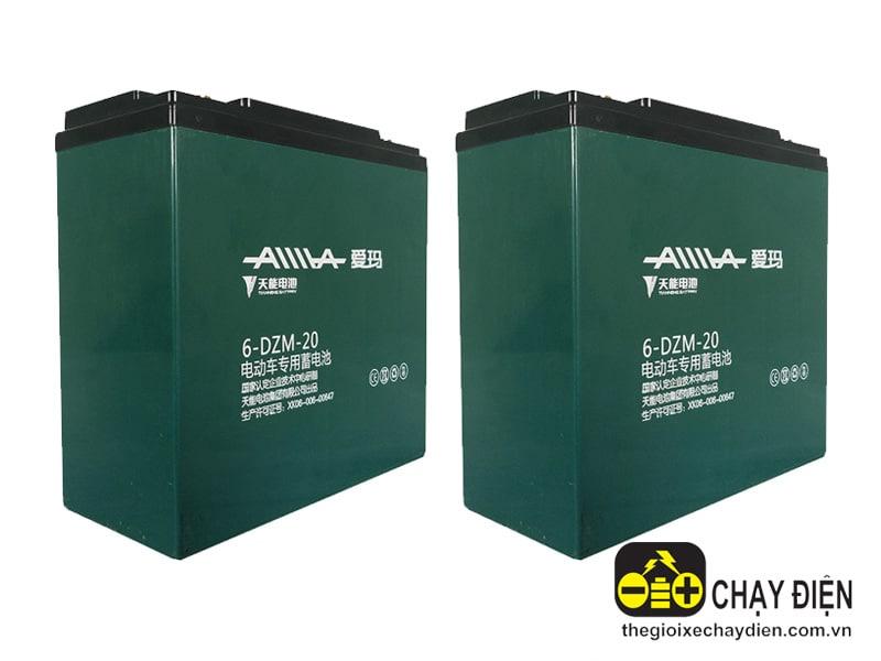 Ắc quy xe máy điện Aima 12V-20Ah