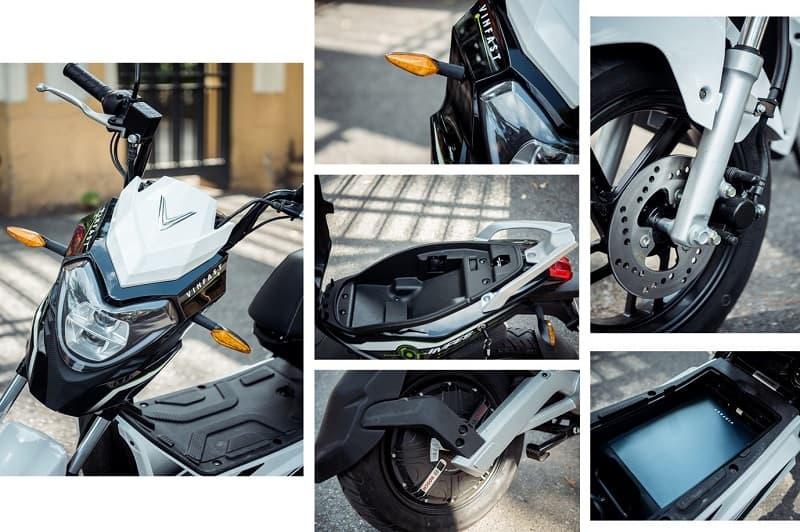Những nhãn mác chứa các thông tin quan trọng, giúp người dùng vận hàng xe máy điện VinFast Impes an toàn và đúng cách