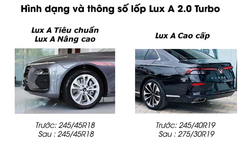 So Sánh Lốp Xe Lux A Tiêu Chuẩn, Nâng Cao Và Cao Cấp