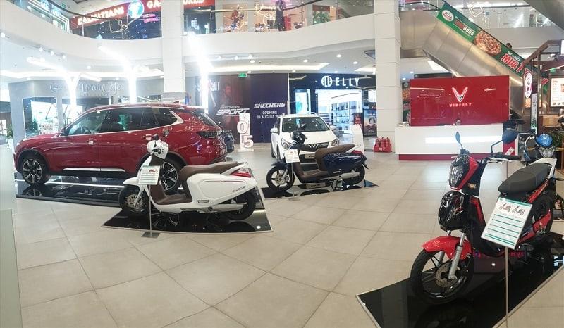 Hệ thống showroom trưng bày sản phẩm xe máy điện VinFast tại Bắc Ninh