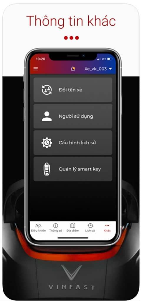 Chức năng chuyển nhượng người dùng trên ứng dụng Vinfast E-Scooter