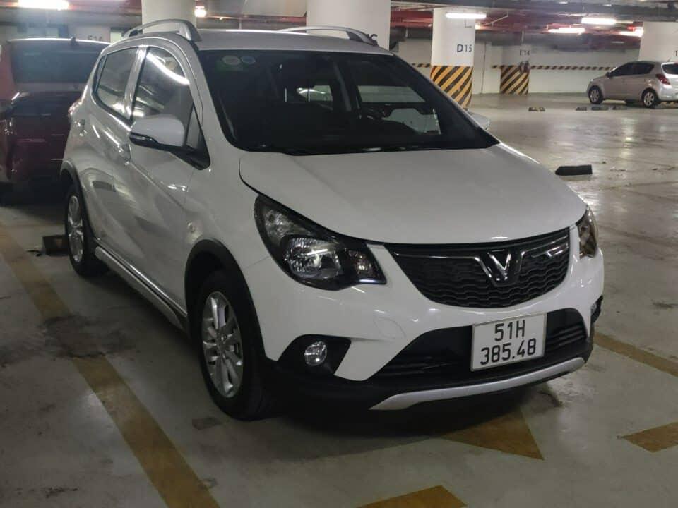 Xe VInFasts Fadil màu trắng