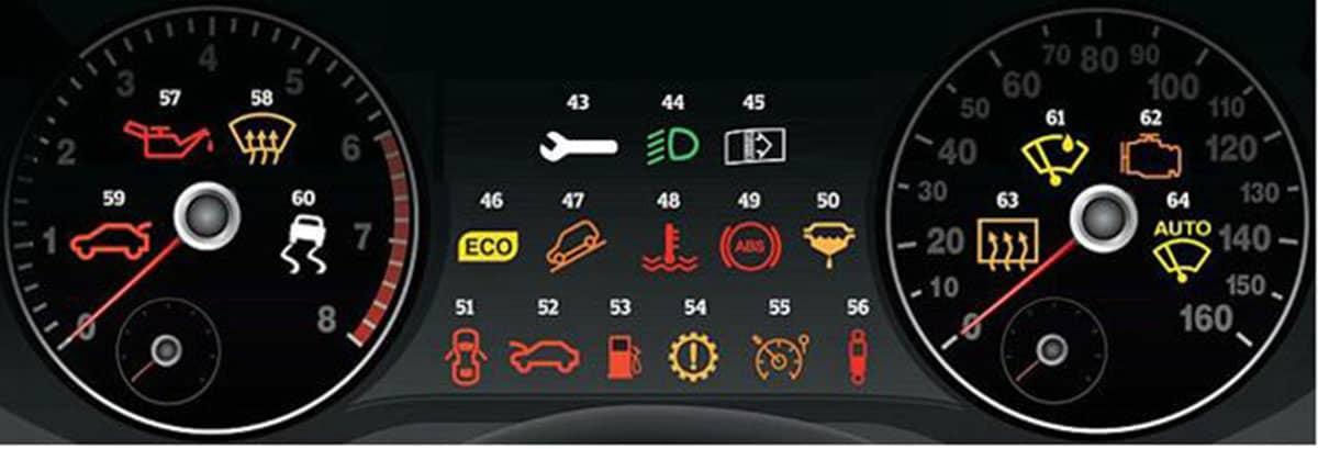 Ý nghĩa của 64 biểu tượng trên bảng táp lô xe ô tô