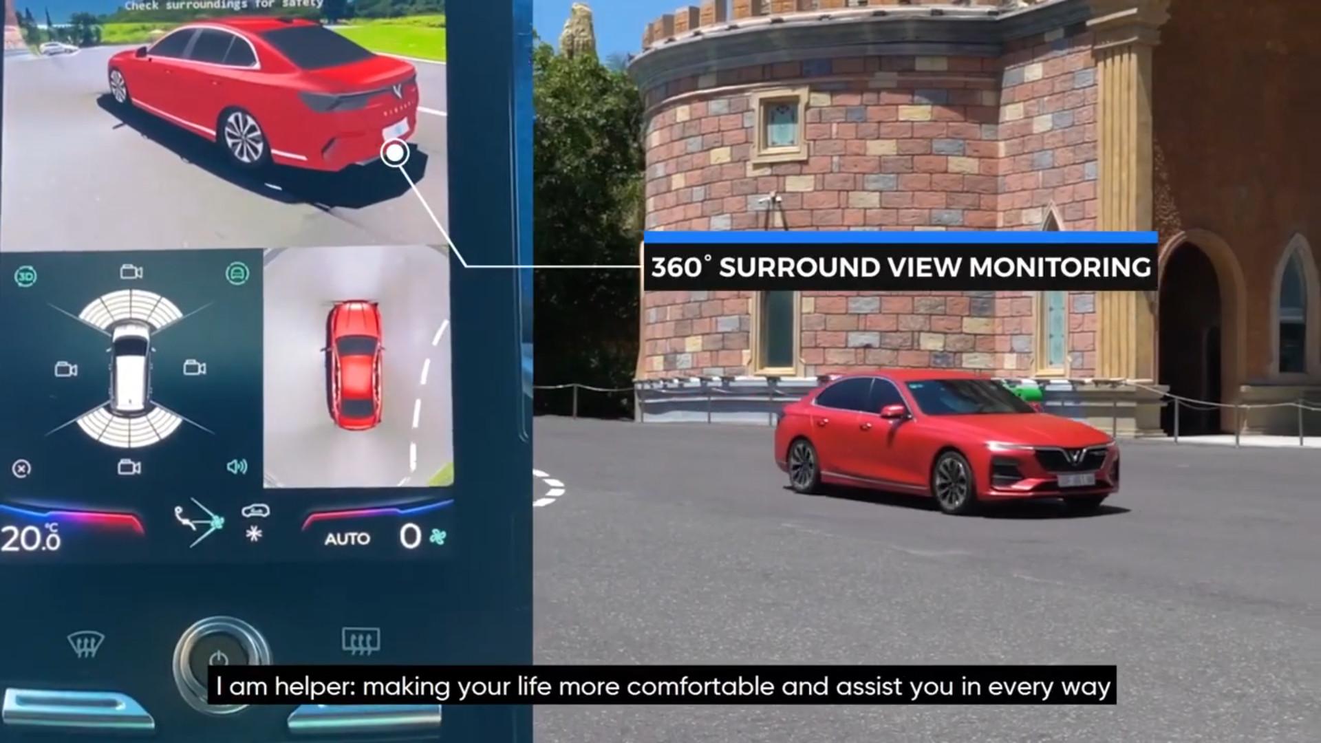 Tính năng Quan sát toàn cảnh 360 độ (Surround View Monitoring - SVM)