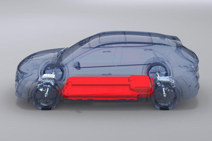 Hình ảnh mô phỏng phần pin xe ô tô điện vinfast